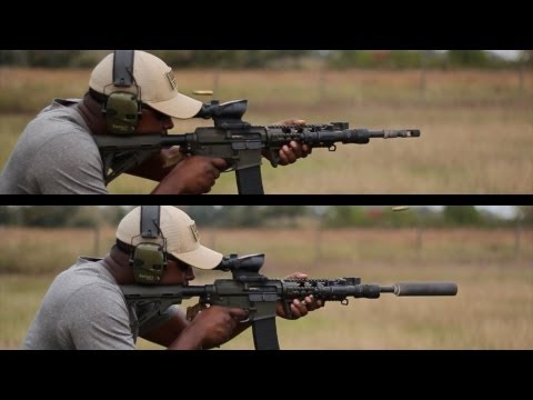AR 15 Suppressed vs AR 15 Un-Suppressed (Rifle By: 2 VETS ARMS CO.)