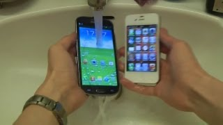 Samsung Galaxy S3 vs. Apple iPhone 4S - Water Test