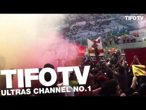 CURVA SUD ROMA.. . SUPPORT AWAY IN TORINO - Ultras Channel No.1