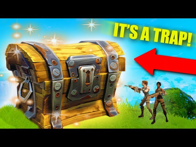 I BUILT A GIANT LOOT CHEST! TRAP TUNNEL TROLLING!  Fortnite Battle Royale