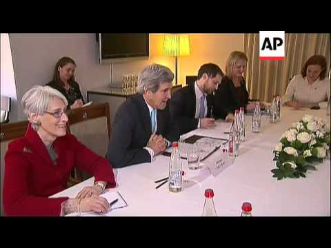 US Secretary of State Kerry holds bilateral meetings at Syria talks