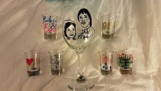 DIY Wine Glass/Shot Glass Painting & Paint Marker Review