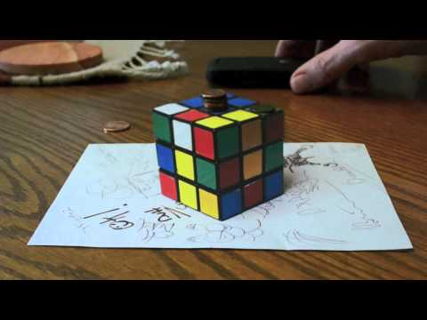 MIND BLOWING OPTICAL ILLUSION - IS THE RUBIK'S CUBE REAL? - Amazing Anamorphic Illusion