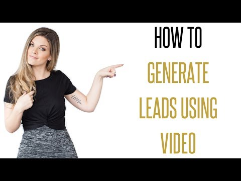 How to generate leads (using video)!