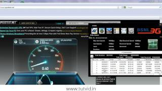 BSNL 3G Internet Speed test in Maharashtra (India)