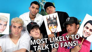 BAND MEMBER MOST LIKELY TO FLIRT!? | VS w/ CNCO
