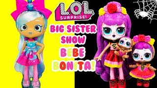 LOL SURPRISE Bebe Bonita Gets A Big Sister Show DIY Shopkins Shoppie Makeover