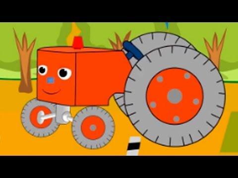 Трактор трансформер раскраска