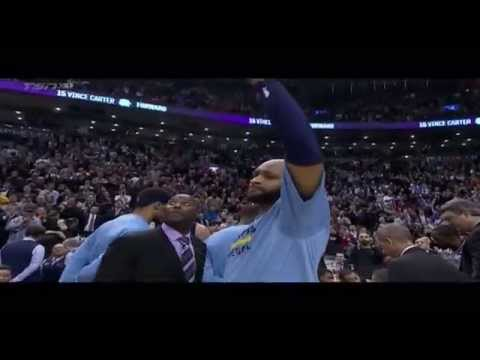 Vince Carter gets tearful during Toronto Raptors video tribute -- Grizzlies at Raptors