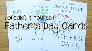 5 DIY Father's Day PUN-ny Card Doodles | Doodle with Me