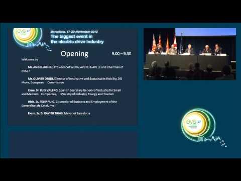 Ceremonia de apertura de EVS27. Autoridades