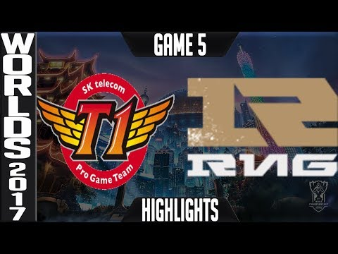 SKT vs RNG Highlights Game 5 - Semifinal World Championship 2017 SK Telecom T1 vs Royal G5