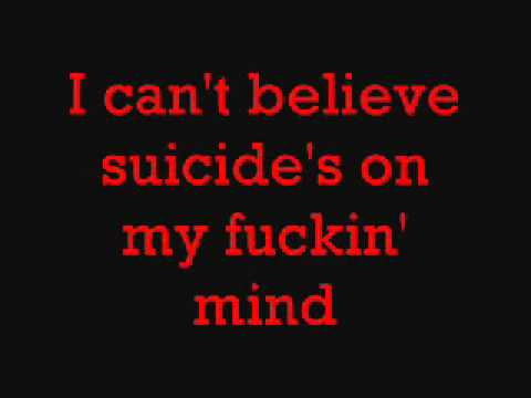 Notorious B.I.G- Suicidal Thoughts Lyrics on SCREEN