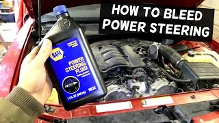 How to BLEED POWER STEERING PUMP SYSTEM with NO SPECIAL TOOLS