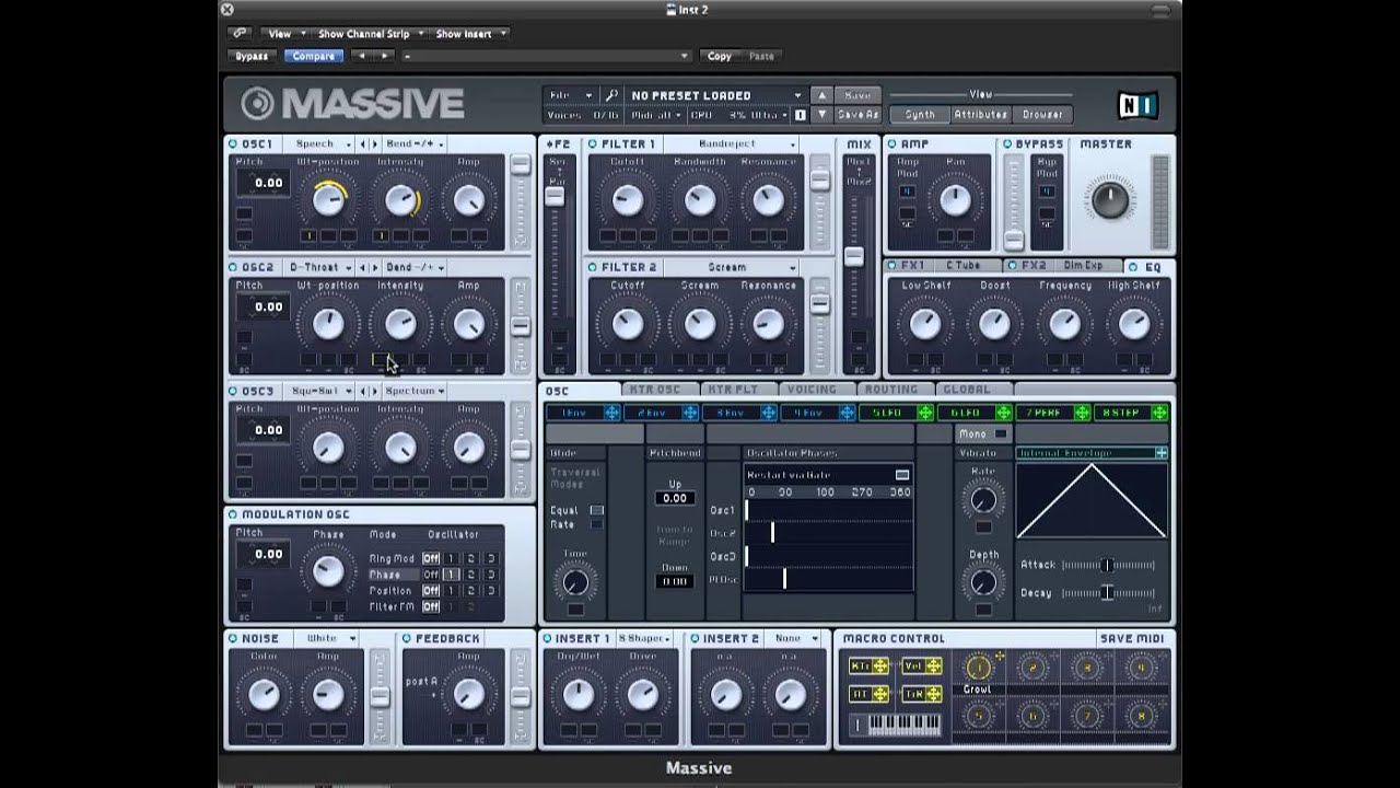 Skrillex/ Knife Party Growl Bass Tutorial in NI Massive, no other ...