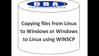 Copying files-Linux to windows Vice Versa-Winscp