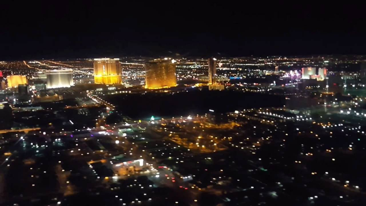 Super Cool Footage Of Fireworks From An Airplane Flying Over Las Vegas