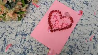 Easy paper flowers Valentine's day card | Aimy creations