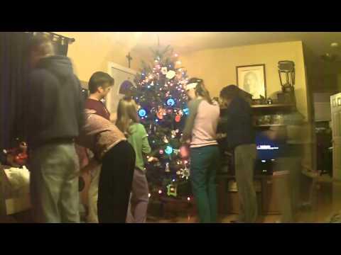 Simmons family Christmas tree decorating 2013