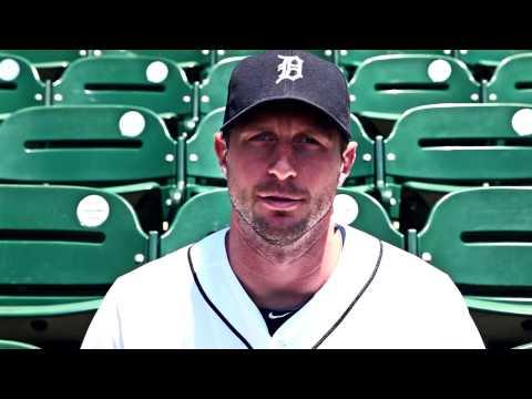Max Scherzer Tigers 4 Tigers PSA