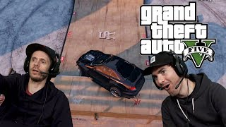 SEARCHING FOR SKATE SPOTS - Grand Theft Auto V | 2dudes1game