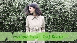 Everlane Trench Coat Review & EVERLANE IS SHIPPING INTERNATIONALLY!! | Mademoiselle