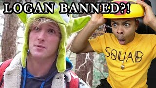 LOGAN PAUL BANNED on HOLLA