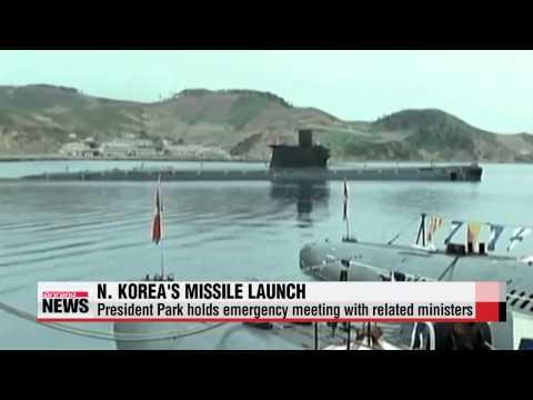 S. Korea holds emergency meetings over N. Korea′s reported missile test   SLBM관련