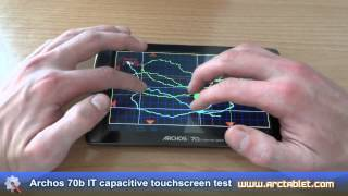 Archos 70b IT capacitive screen touch test