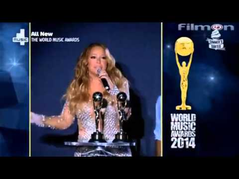 Mariah Carey received Legend Awards at WMA 2014