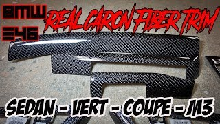 BMW E46 REAL CARBON FIBER TRIM - COVERS - INTERIOR FOR SEDAN, COUPE, VERT, AND M3 BY RD