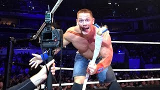 Watch what happens after a ring rope snaps during John Cena vs. Big Show at WWE Live Manila