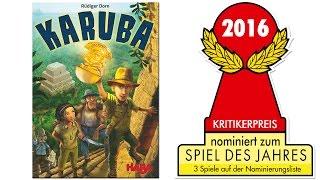 Nominiert Spiel des Jahres 2016: Karuba