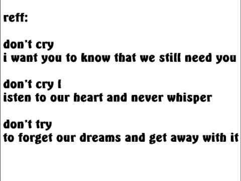 vierra - don't cry lyrics.wmv
