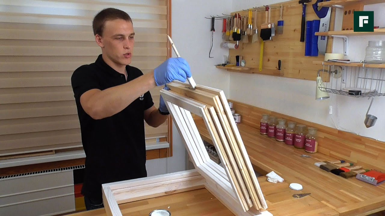Покраска окон деревянных