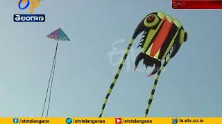 Colorful Event   International Kite Festival Attracts People   at Secunderabad