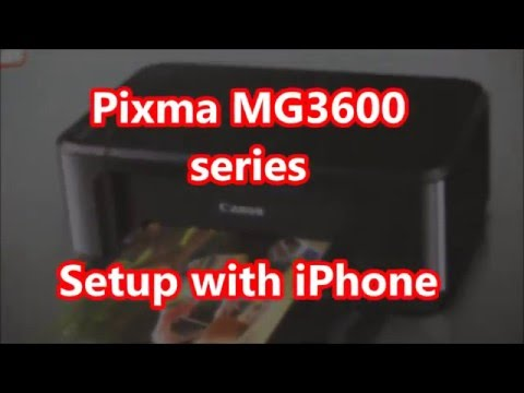 Pixma MG3620 MG3650 Wifi Setup (iPhone/Airprint. Android)