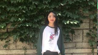 [MIXXMIX] UNTITLE8 - Flower Raglan Top (DEEP GREEN)