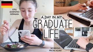 GRADUATE DAY IN THE LIFE WORKING FROM HOME, PACKING FOR TRAVELS & STILL LEARNING GERMAN (VLOG)