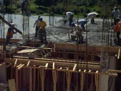 Colado de una losa de entrepiso 03 youtube - Losas para terrazas ...