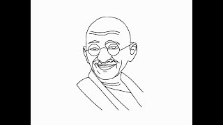 How to draw easy Mahatma gandhi Ji face pencil drawing for kids