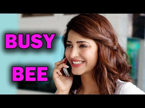 Shruti Hassan - The Busy Bee Reveals Her Future Projects | Bollywood News video