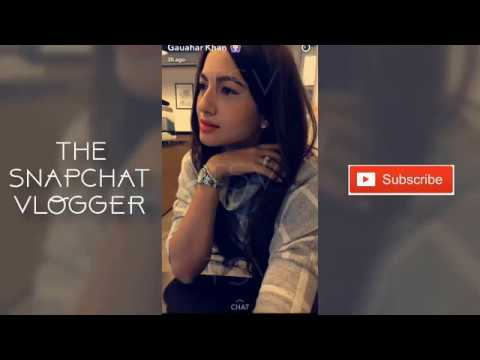 Gauhar Khan Hot  Latest Snapchat Video ✴ Zaroor Dekho ✴ MUST WATCH ✅ thumbnail