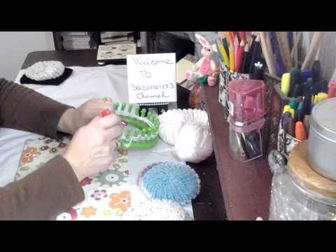 Beginners knitting loom make a dishcloth