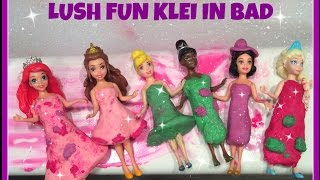 "LUSH FUN klei en ""Pop in the Bath Bubble Bar"" in bad met Magiclips Disney Prinsessen"