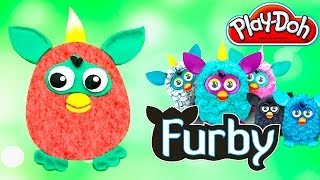 FURBY Play-Doh - How To Make FURBY with Play-Doh FURBY Playdough