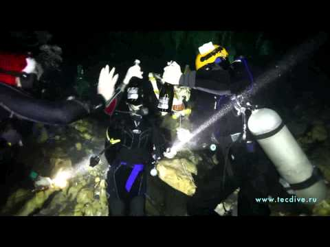 The New Year underwater celebration. 2013 ( cave video )