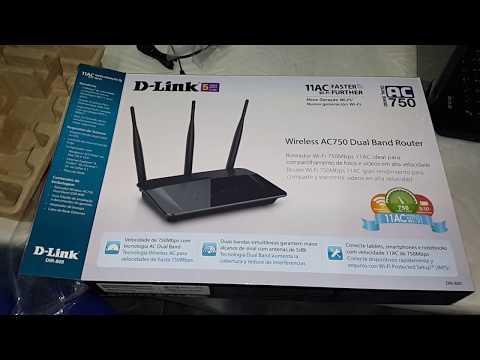 UNBOXING DO ROTEADOR D-LINK DIR 809 Ligando como principal direto no modem