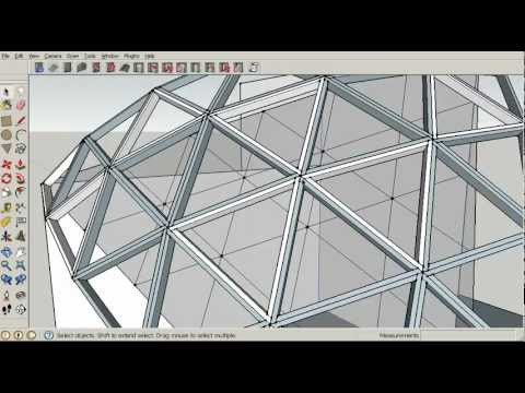 Geodesic Dome Framing Plan Tutorial 5 Construction Youtube
