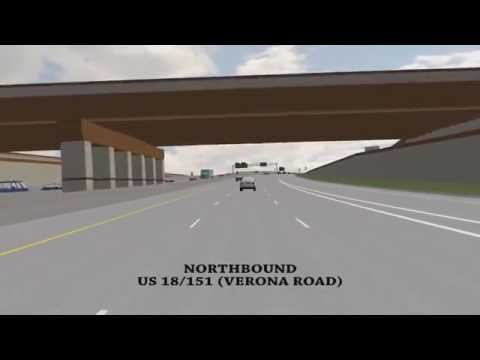 This narrated drive-through animation video shows the final look and configuration of Verona Road (US 18/151), between Raymond Road and County PD (McKee Road...